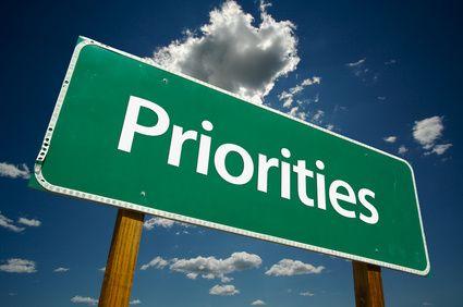 """Priorities"" Road Sign"
