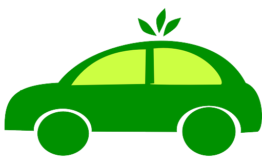 Grön körning bil